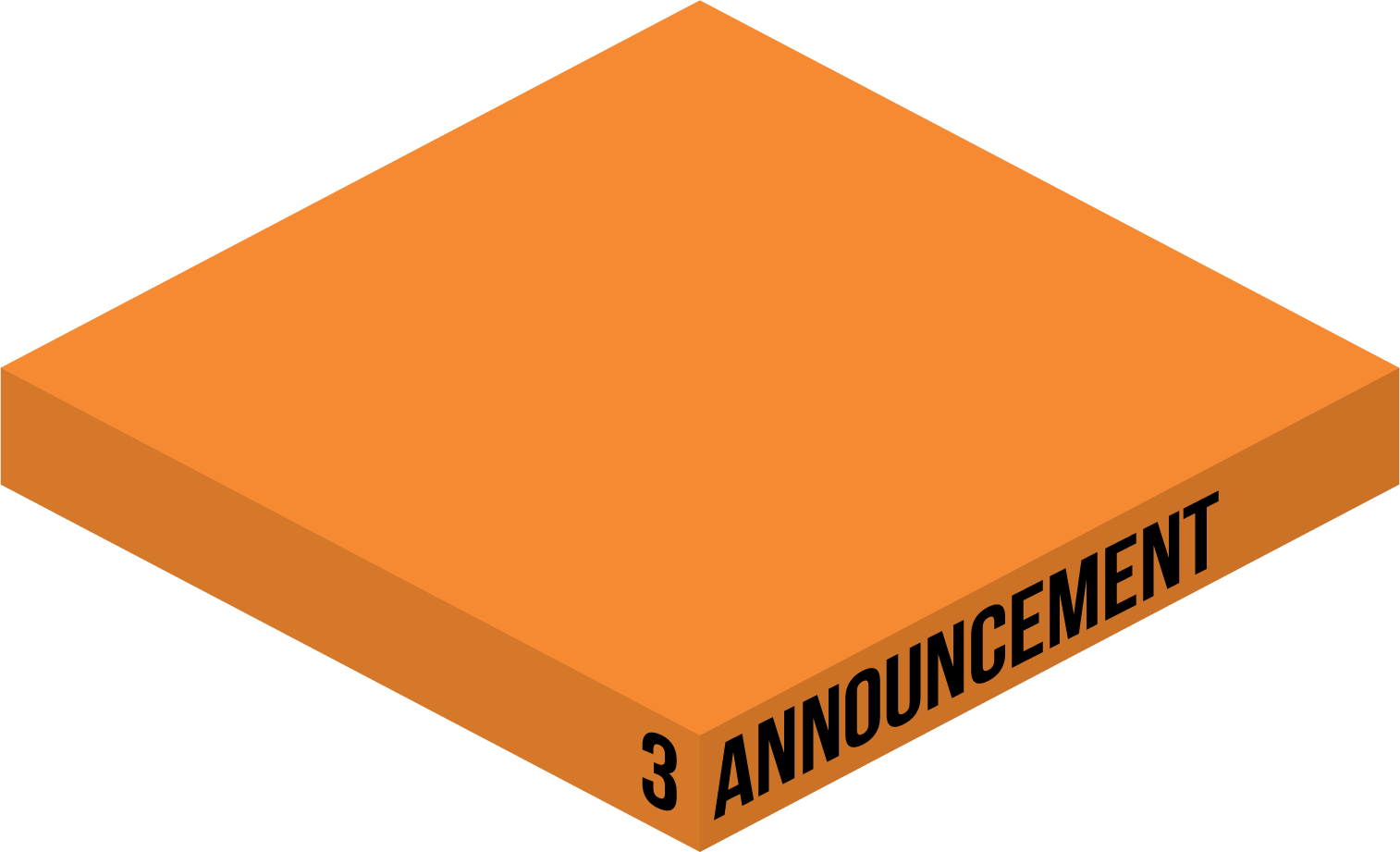 3. ANNOUNCEMENT